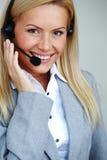 γυναίκα κασκών κλήσης Στοκ εικόνες με δικαίωμα ελεύθερης χρήσης