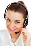 γυναίκα κασκών τηλεφωνικών κέντρων Στοκ Εικόνα