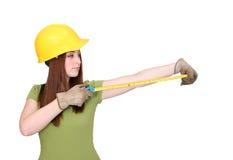 γυναίκα κατασκευής Στοκ φωτογραφία με δικαίωμα ελεύθερης χρήσης