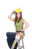 γυναίκα κατασκευής Στοκ Εικόνες