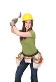γυναίκα κατασκευής Στοκ Φωτογραφία