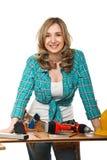 γυναίκα κατασκευαστών Στοκ φωτογραφία με δικαίωμα ελεύθερης χρήσης