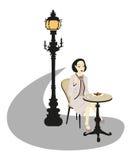 γυναίκα καφέδων απεικόνιση αποθεμάτων