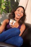 γυναίκα καφέ Στοκ εικόνα με δικαίωμα ελεύθερης χρήσης