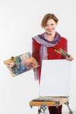 Γυναίκα καλλιτεχνών στην εργασία Στοκ Εικόνες