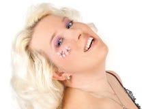 γυναίκα κερασιών ανθών στοκ εικόνα με δικαίωμα ελεύθερης χρήσης