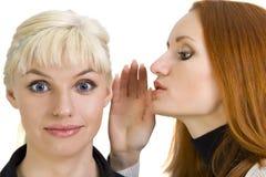 γυναίκα κουτσομπολιών s Στοκ φωτογραφία με δικαίωμα ελεύθερης χρήσης