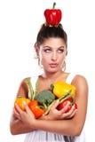 γυναίκα λαχανικών στοκ εικόνα