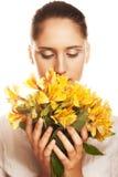 γυναίκα λουλουδιών κίτ&rh Στοκ εικόνα με δικαίωμα ελεύθερης χρήσης