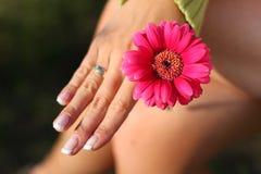 γυναίκα λουλουδιών στοκ φωτογραφία
