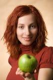 γυναίκα μήλων Στοκ εικόνες με δικαίωμα ελεύθερης χρήσης