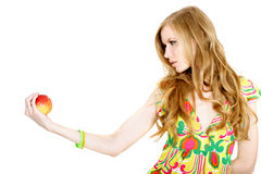 γυναίκα μήλων στοκ εικόνες