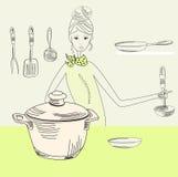 γυναίκα μαγείρων ελεύθερη απεικόνιση δικαιώματος