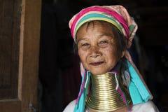 Γυναίκα μακρύς-λαιμών, το Μιανμάρ Στοκ εικόνες με δικαίωμα ελεύθερης χρήσης