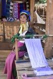Γυναίκα μακρύς-λαιμών, το Μιανμάρ Στοκ Φωτογραφίες