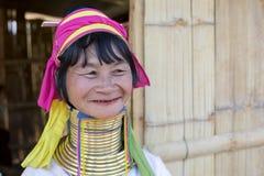 Γυναίκα μακρύς-λαιμών, το Μιανμάρ Στοκ φωτογραφία με δικαίωμα ελεύθερης χρήσης