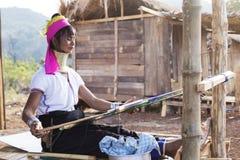 Γυναίκα μακρύς-λαιμών, το Μιανμάρ Στοκ Εικόνα