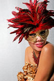 γυναίκα μασκών αφροαμερ&iota στοκ εικόνα με δικαίωμα ελεύθερης χρήσης