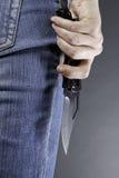 γυναίκα μαχαιριών Στοκ φωτογραφία με δικαίωμα ελεύθερης χρήσης