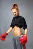 γυναίκα μαχητών Στοκ Εικόνα