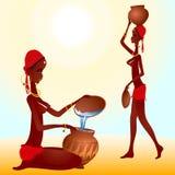 Γυναίκα μαύρων Αφρικανών διανυσματική απεικόνιση