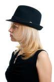 γυναίκα μαύρων καπέλων Στοκ Φωτογραφίες