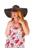 γυναίκα μαύρων καπέλων Στοκ Φωτογραφία