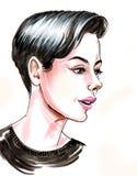 Γυναίκα με ένα κούρεμα διανυσματική απεικόνιση