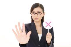 Γυναίκα με ένα σημάδι αριθ. Στοκ φωτογραφία με δικαίωμα ελεύθερης χρήσης