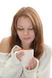 Γυναίκα με ένα φλυτζάνι. Στοκ Εικόνες
