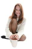 Γυναίκα με ένα φλυτζάνι. Στοκ φωτογραφία με δικαίωμα ελεύθερης χρήσης