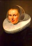 Γυναίκα με μια άσπρη χοντροσκαλίδρα Στοκ φωτογραφίες με δικαίωμα ελεύθερης χρήσης