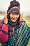 Γυναίκα με τα βουλώματα μύτης σε Arunachal Pradesh Στοκ εικόνα με δικαίωμα ελεύθερης χρήσης