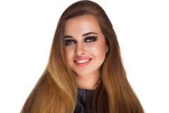 Γυναίκα με τα γοητευτικά μάτια Στοκ εικόνες με δικαίωμα ελεύθερης χρήσης