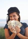Γυναίκα με τα δολάρια Στοκ φωτογραφία με δικαίωμα ελεύθερης χρήσης