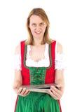 Γυναίκα με τα πολύ σημαντικά έγγραφα Στοκ φωτογραφίες με δικαίωμα ελεύθερης χρήσης