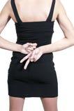 Γυναίκα με τα χέρια πίσω από την πλάτη Στοκ φωτογραφίες με δικαίωμα ελεύθερης χρήσης