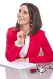 Γυναίκα με την έκφραση της εμπιστοσύνης και εύθυμος Στοκ φωτογραφία με δικαίωμα ελεύθερης χρήσης