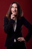Γυναίκα με την αστεία έκφραση Στοκ φωτογραφίες με δικαίωμα ελεύθερης χρήσης