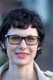 Γυναίκα με την κοντή τρίχα Στοκ φωτογραφία με δικαίωμα ελεύθερης χρήσης
