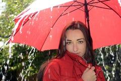 Γυναίκα με την ομπρέλα στοκ εικόνες