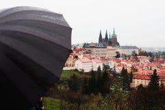 Γυναίκα με την ομπρέλα στοκ εικόνες με δικαίωμα ελεύθερης χρήσης