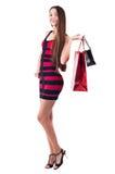 Γυναίκα με την τσάντα αγορών Στοκ Εικόνες
