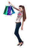 Γυναίκα με την τσάντα αγορών Στοκ Εικόνα