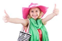 Γυναίκα με την τσάντα Στοκ Εικόνες