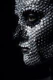 Γυναίκα με τη δημιουργική σύνθεση έννοιας Στοκ Φωτογραφία