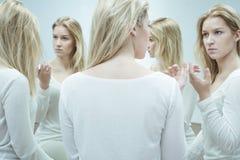 Γυναίκα με τη διασπασμένη προσωπικότητα Στοκ Εικόνα