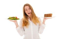 Γυναίκα με τη διατροφή στοκ εικόνες με δικαίωμα ελεύθερης χρήσης