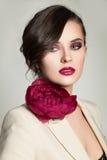 Γυναίκα με τη μόδα Makeup και Hairstyle Στοκ εικόνα με δικαίωμα ελεύθερης χρήσης