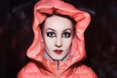 Γυναίκα με τη σύνθεση στο γοτθικό ύφος Στοκ φωτογραφία με δικαίωμα ελεύθερης χρήσης